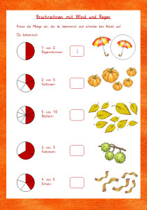 Bruchrechnen Herbst