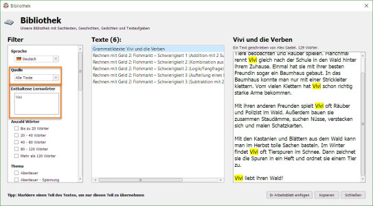 Herbst Lesetext Suche Worksheet Crafter