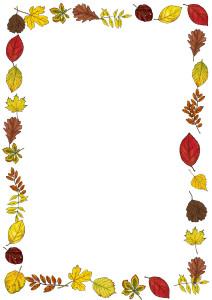 Herbstrahmen farbig