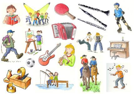 Cliparts des Niedersächsischen Bildungsservers (NiBiS) zu Hobby, Spiel und Sport