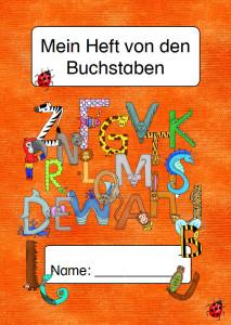 Mein Heft von den Buchstaben Titelseite