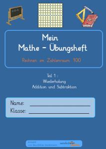 Mein Mathe Uebungsheft Titelseite