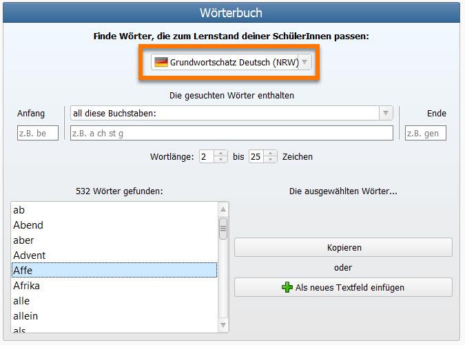NRW Grundwortschatz