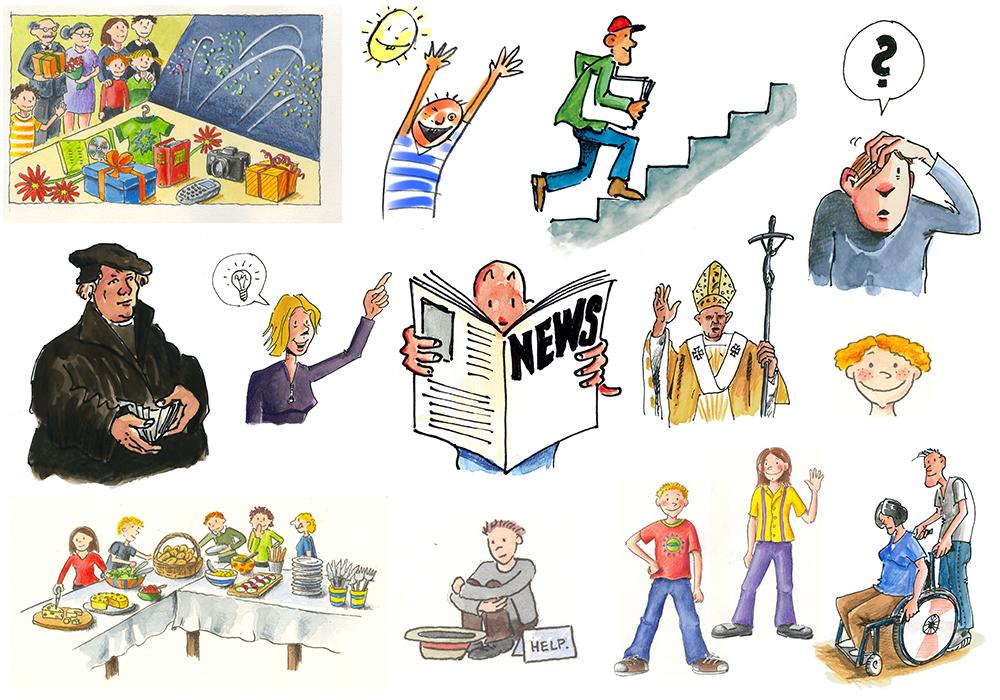 Cliparts des Niedersächsischen Bildungsservers (NiBiS) zu Menschen