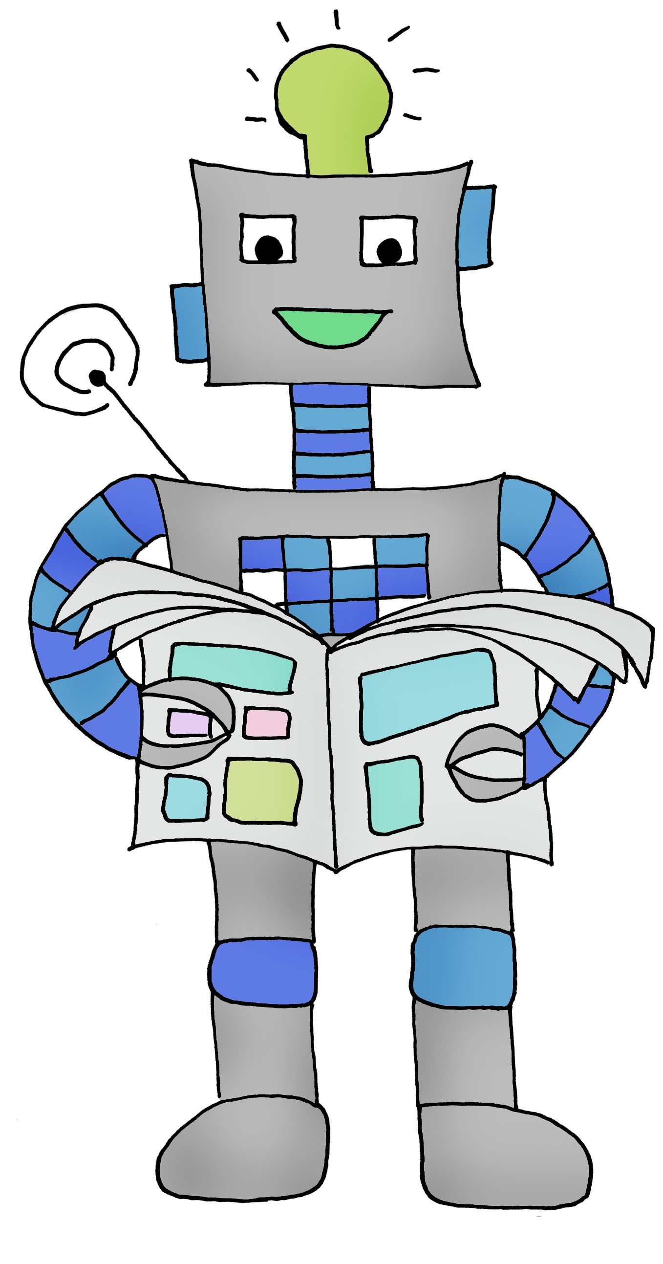 Roboter 1 farbig