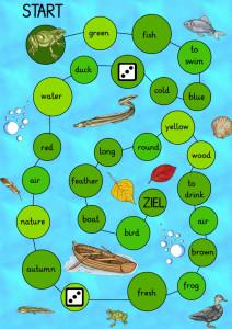Spielplan englische Vokabeln Wasser