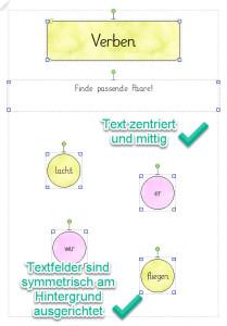 Textfelder gut ausrichten