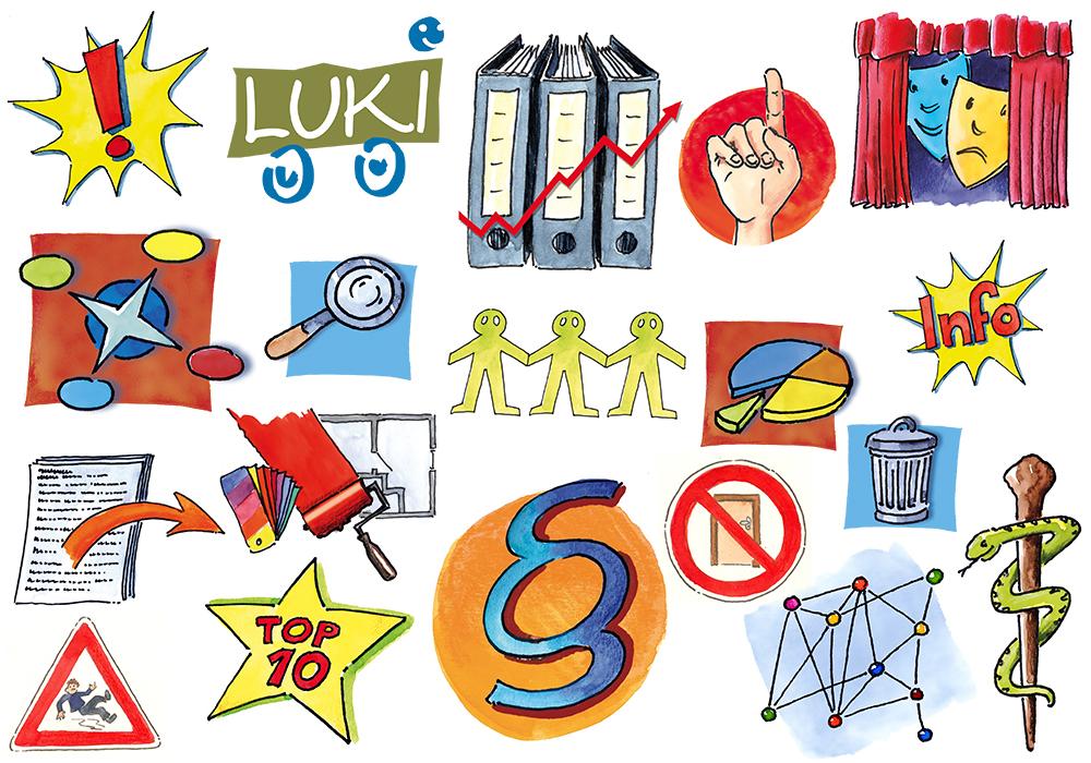 Cliparts des Niedersächsischen Bildungsservers (NiBiS) für Verschiedene Symbole
