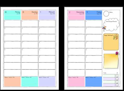 Wochenuebersicht Lehrerkalender Worksheet Crafter